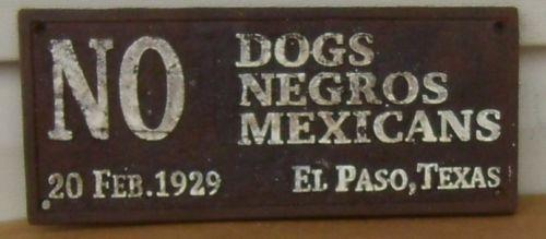 No dogs negros or mexicans | lithobolos.net